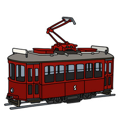 Old tramway vector