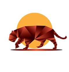 Origami jaguar4 vector image
