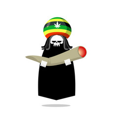 Rasta death offers joint or spliff rastafarian vector
