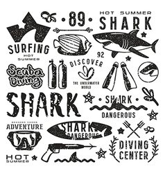 Set of graphic elements vector image