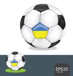 soccer ball ukraine vector image