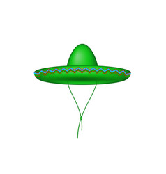 Sombrero hat in green design vector