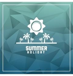 Summer design palm tree icon polygon design vector image vector image