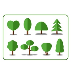 Tree icons set 2 vector image