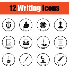 Set of writer icons vector