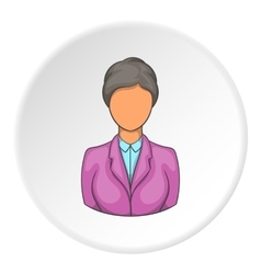 Hotel receptionist icon cartoon style vector