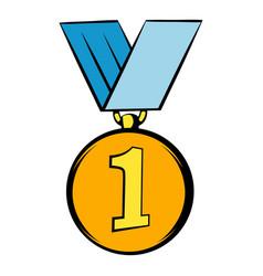 Gold medal icon icon cartoon vector
