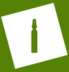 Medical ampoule sign  white icon obtained vector
