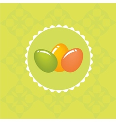 Easter card with hand drawn eggs vector image