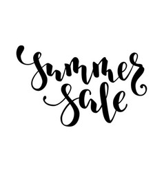 Summer sale hand drawn calligraphy and brush pen vector
