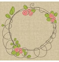 Doodle floral frames vector