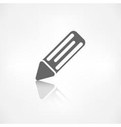 Pencil web icon vector