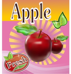 Fresh apple juice banner vector