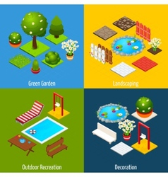 Landscape isometric design vector