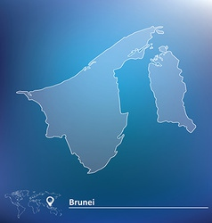 Map of Brunei vector image