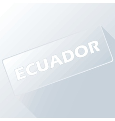 Ecuador unique button vector