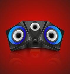 Realistic music speaker vector image