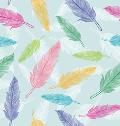 Feather pattern white new vector