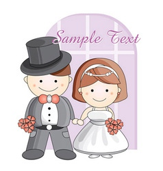 Wedding cartoon vector