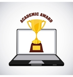 Academic award design vector