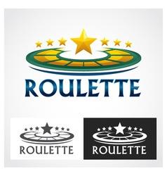 Casino roulette symbol vector