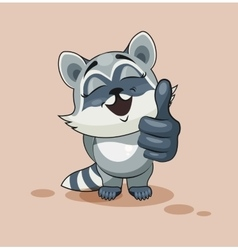 Raccoon cub thumb up vector