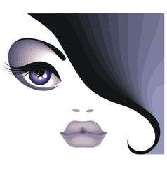Portrait of a beautiful brunette vector image