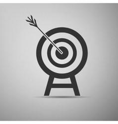 Target with dart in black icon vector