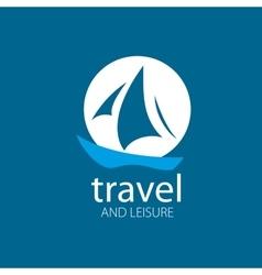 Logo yacht vector