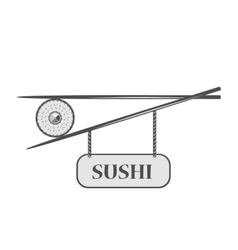 Sushi bar icon vector