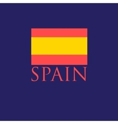 Icon with the spanish flag vector