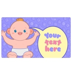Banner template with kawaii baby and text vector