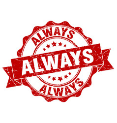 Always stamp sign seal vector