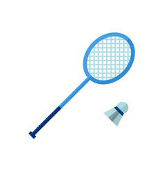 badminton icon on white isolated vector image vector image