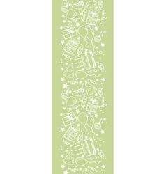 Birthday doodle vertical seamless pattern vector image