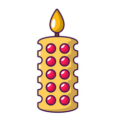 candle ceremony icon cartoon style vector image vector image