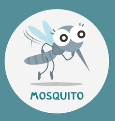 Cute mosquito vector