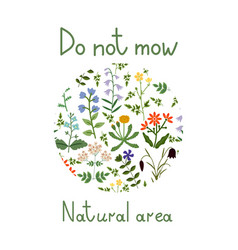 do not mow vector image