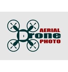 Drone icon aerial photo text vector