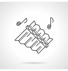 Ethnic tunes flat line icon vector image