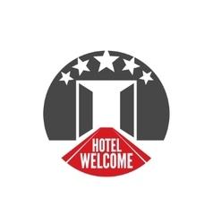 Five stars hotel vector image vector image