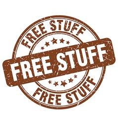 Free stuff brown grunge round vintage rubber stamp vector