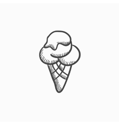 Ice cream sketch icon vector image vector image