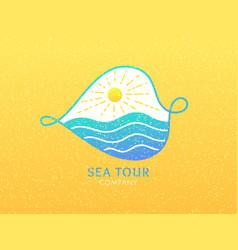 Logo cruise vector