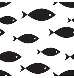 marine seamless pattern fish vector image vector image