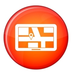 Navigation icon flat style vector