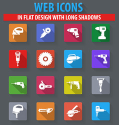 Power tools icons set vector