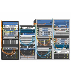 Rack system database machine vector image