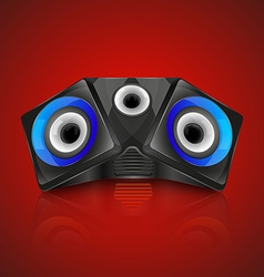 Realistic music speaker vector image vector image