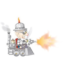 Steampunk Old Boy vector image